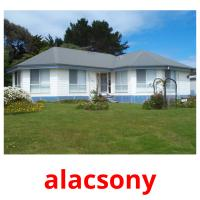 alacsony picture flashcards