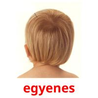 egyenes picture flashcards