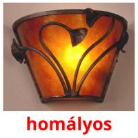 homályos picture flashcards