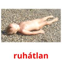 ruhátlan picture flashcards