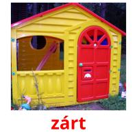zárt picture flashcards