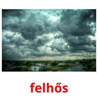 felhős picture flashcards