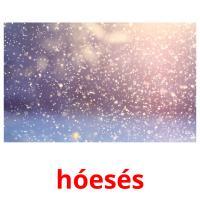hóesés picture flashcards