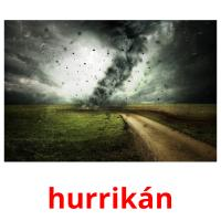 hurrikán picture flashcards