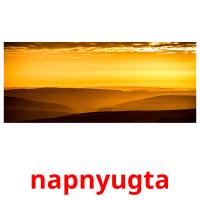 napnyugta picture flashcards