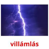 villámlás picture flashcards