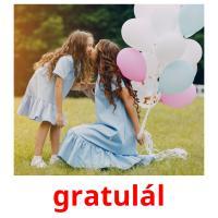 gratulál picture flashcards
