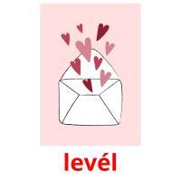 levél picture flashcards