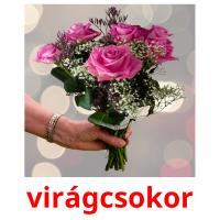 virágcsokor picture flashcards