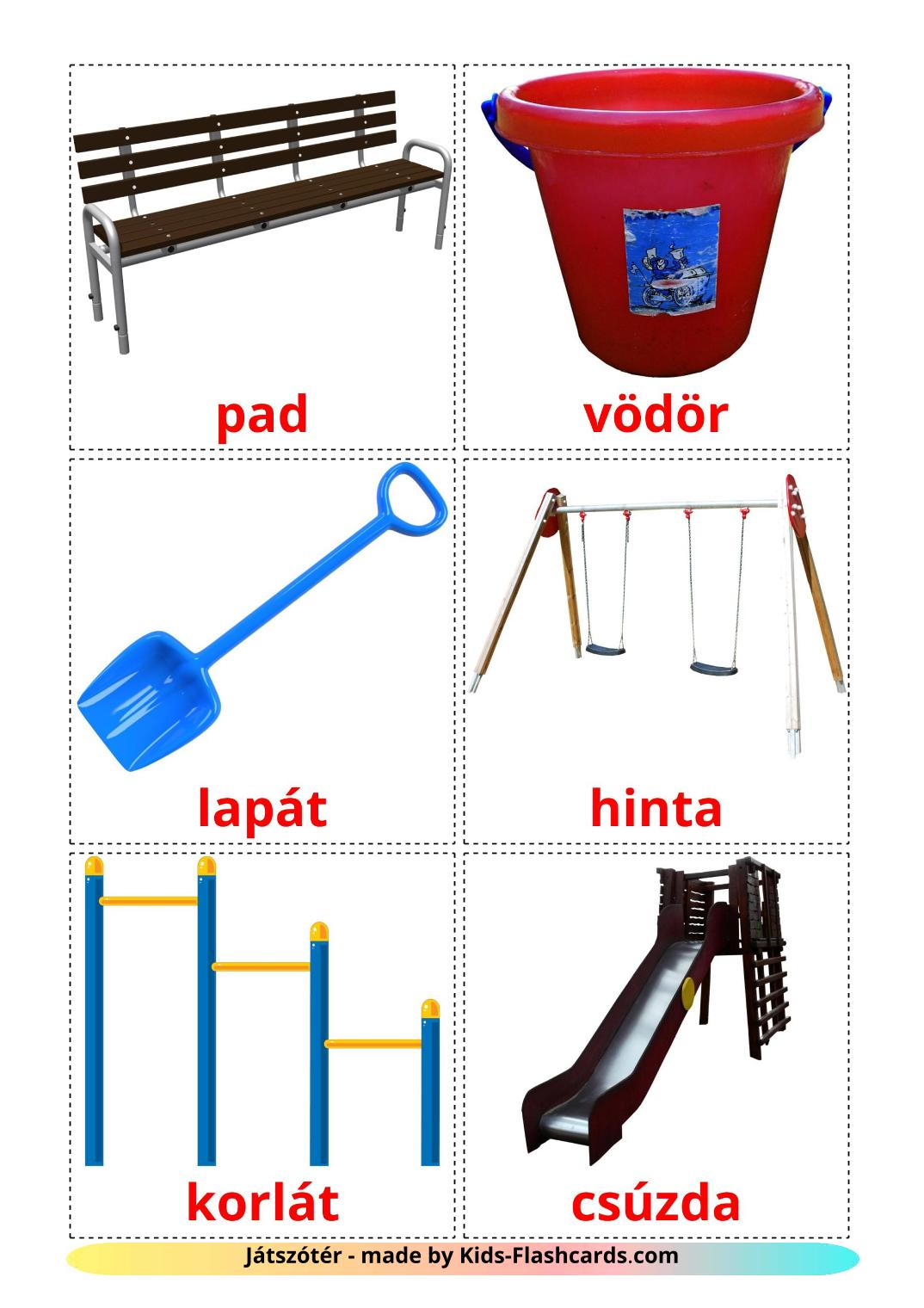 Playground - 13 Free Printable hungarian Flashcards