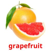 grapefruit picture flashcards