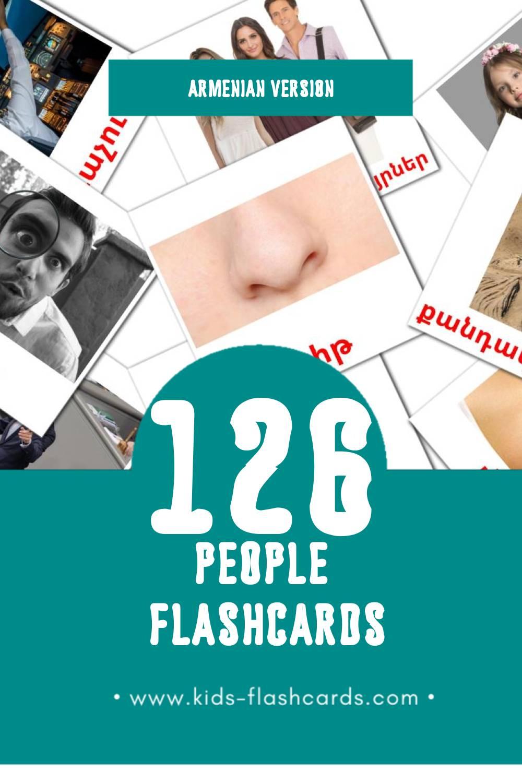 Visual Մարդիկ Flashcards for Toddlers (58 cards in Armenian)