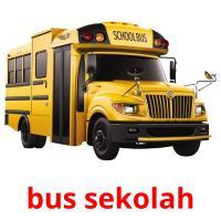 bus sekolah picture flashcards