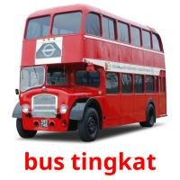 bus tingkat picture flashcards