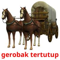gerobak tertutup picture flashcards