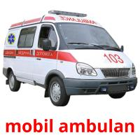 mobil ambulan picture flashcards