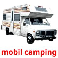 mobil camping picture flashcards