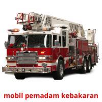 mobil pemadam kebakaran picture flashcards