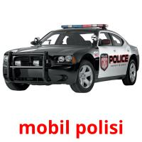 mobil polisi picture flashcards