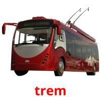 trem picture flashcards