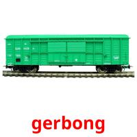 gerbong picture flashcards