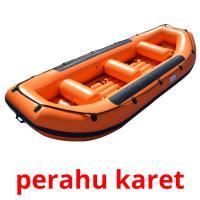 perahu karet picture flashcards