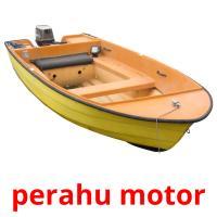 perahu motor picture flashcards
