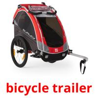 bicycle trailer picture flashcards