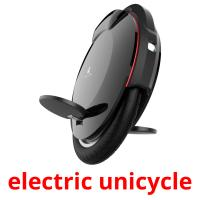 electric unicycle picture flashcards