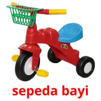 sepeda bayi picture flashcards