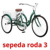 sepeda roda 3 picture flashcards