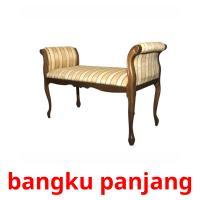 bangku panjang picture flashcards