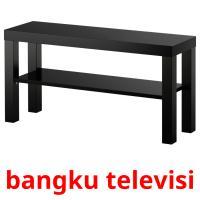 bangku televisi picture flashcards