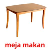 meja makan picture flashcards