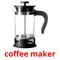 coffee maker picture flashcards
