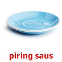 piring saus picture flashcards