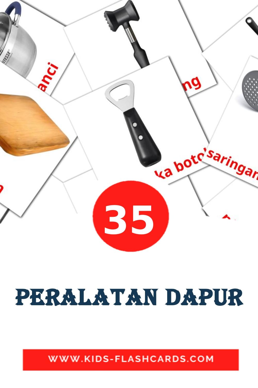 Peralatan Dapur на индонезийском для Детского Сада (35 карточек)