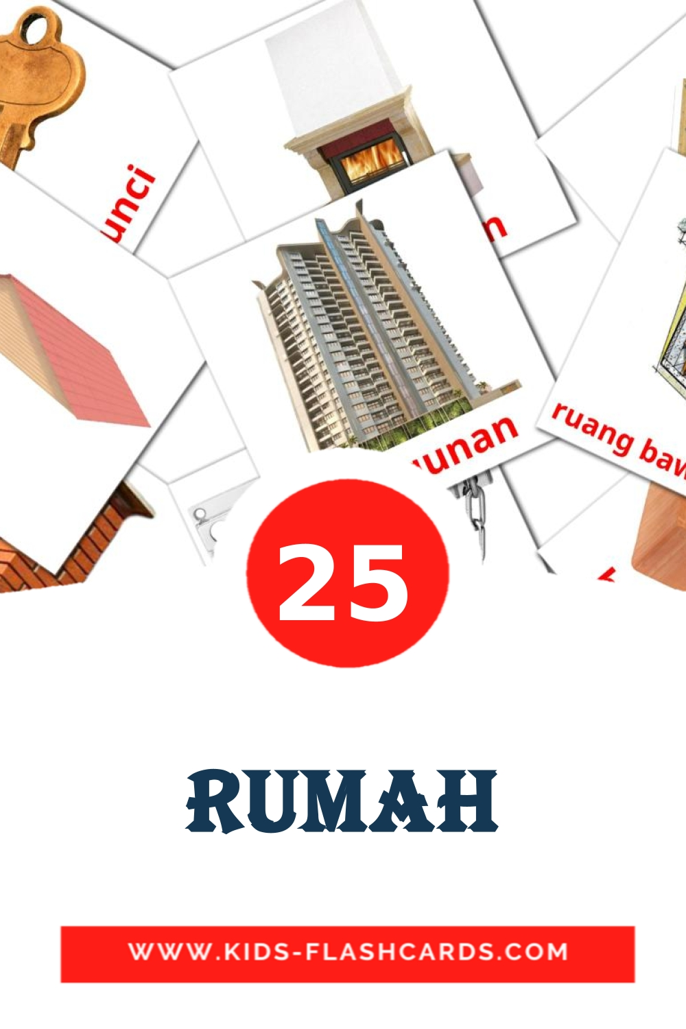 25 Rumah Picture Cards for Kindergarden in indonesian