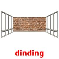 dinding picture flashcards