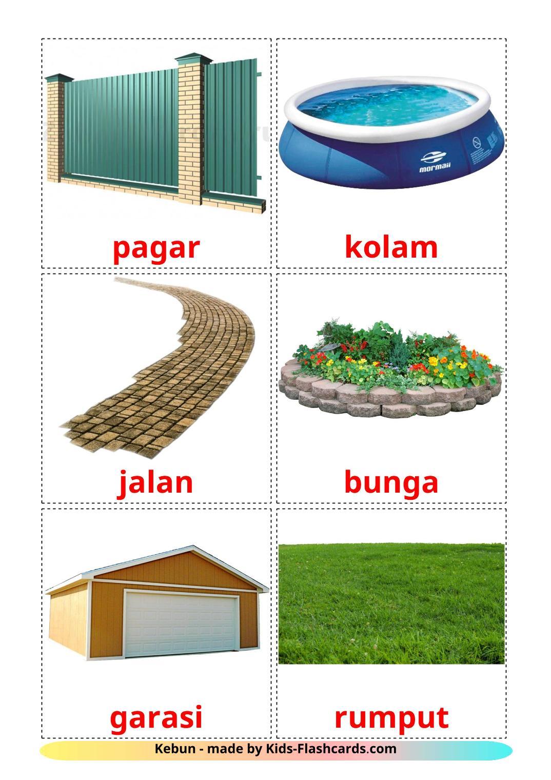 Garden - 18 Free Printable indonesian Flashcards