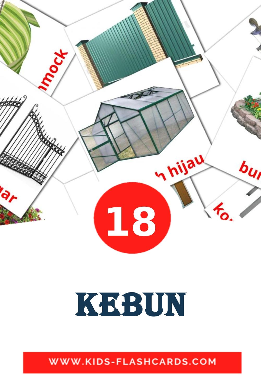 18 Kebun Picture Cards for Kindergarden in indonesian