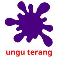 ungu terang picture flashcards