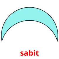 sabit picture flashcards