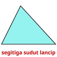 segitiga sudut lancip picture flashcards