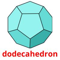 dodecahedron picture flashcards