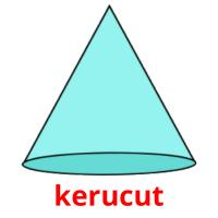 kerucut picture flashcards