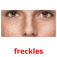 freckles picture flashcards