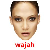 wajah picture flashcards