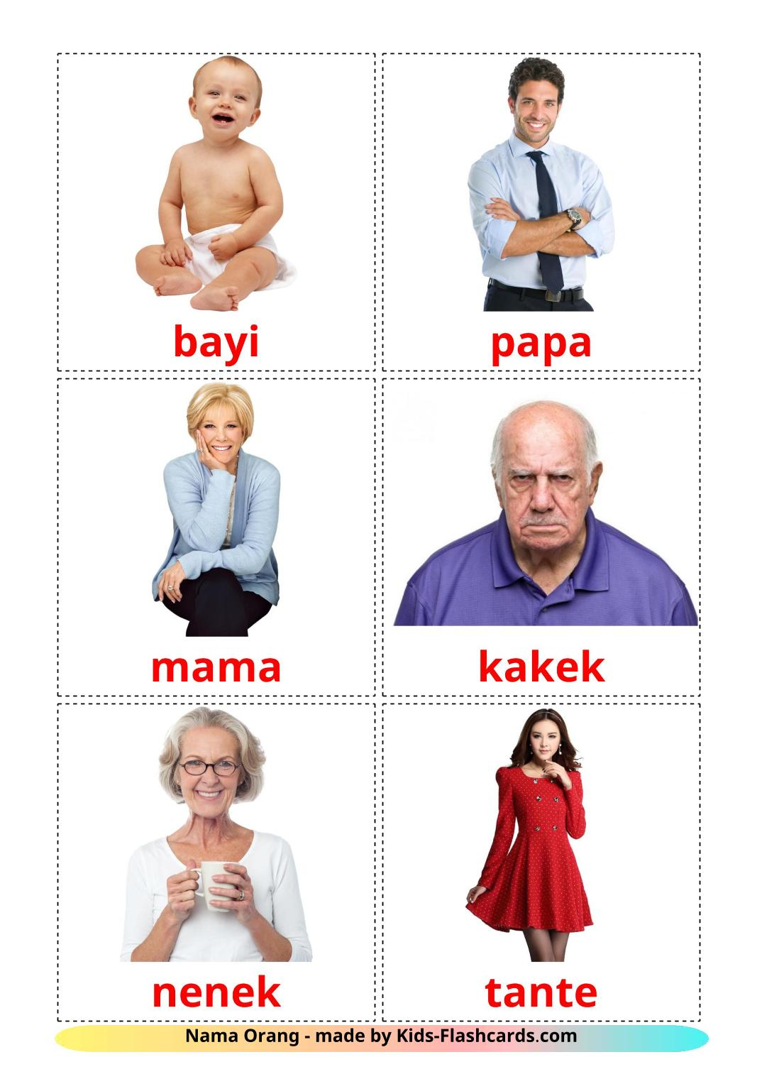 Stages - 12 Free Printable indonesian Flashcards