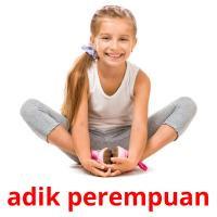 adik perempuan card for translate